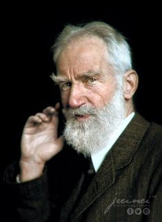 Nobel Prize (in Literature) laureate George Bernard Shaw - 1925 Prix Nobel, Nobel Prize In Literature, St Joan, George Bernard Shaw, Intelligent Women, History Images, History Education, Playwright, Black N White Images