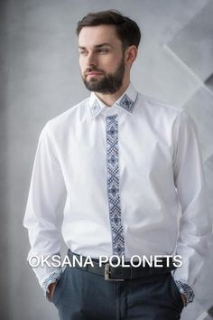ПанГалин's media statistics and analytics Embroidery On Clothes, Shirt Embroidery, Embroidered Clothes, Summer Dresses Sale, Mens Designer Shirts, Palestinian Embroidery, Flower Embroidery Designs, Indian Groom Wear, Boys Shirts
