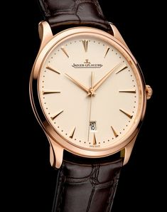 Someday in the very distant future: SIHH 2014 - Jaeger-LeCoultre - Master Ultra Thin and Master Ultra Thin Date Elegant Watches, Stylish Watches, Luxury Watches For Men, Beautiful Watches, Fine Watches, Cool Watches, Jaeger Lecoultre Watches, Submariner Watch, Der Gentleman