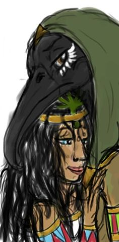 Thoth and Seshat by YOUR-PLAGUE-DOCTOR on DeviantArt