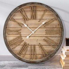 Große Wanduhr Holz, Deko Wanduhr, Holz Wanduhr, Wanduhr Gross, Vintage  Wanduhr