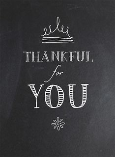 Paper Crafts & Scrapbooking November 2014 Simple Printables | Thankful for you journaling card, chalkboard