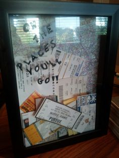 Oh the places you'll go shadow box. I would love to do this after Derek and I get married... great memory box :)