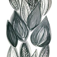 Design: FRUTTI (grey)  Designer: Louise Videlyck (Sweden)  Manufacturer: Kinnamark Composition: 100% Cotton Width: 140 cm  Repeat: 260 cm