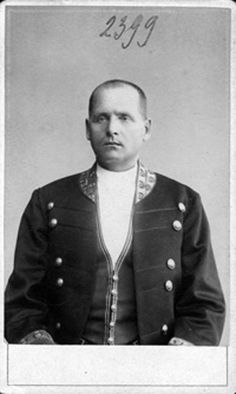 "Ermolai Gusev ~ Man Servant/Footman at Tsarskoe Selo.He followed the Imperial Royal family into exile in 1917. ""AL"""