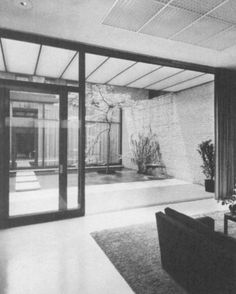PHILIP  JOHNSON 1950 - The Blanchette Hooker Rockefeller (Mrs. John D, III) Guest House, 242 East 52nd Street, New York NY.