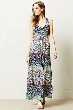 Tie-Dye Maxi Dress #anthropologie, I love these dresses, but they dont look so good on me :/