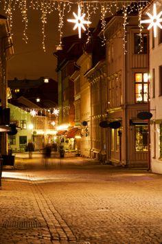 Street in the old district of Haga in Gothenburg, Sweden