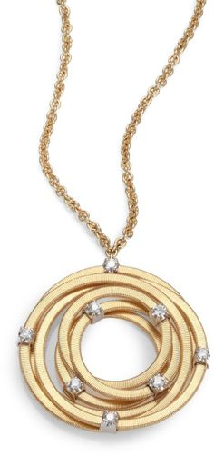 Marco Bicego 18k Gold Diamond Pendant Necklace in Gold