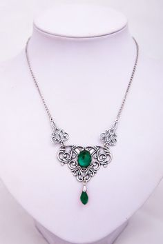 This is an elegant and beautiful gothic victorian necklace handmade by Rosalyn Gothic Jewelry.