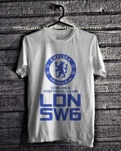 Chelsea Football Club London SW6 T-Shirts Only IDR 85.000 - Chelsea 1 White, Black, Light Misty Grey