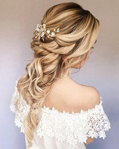 Hot Wedding Hair Trends 2021 ★ wedding hair trends cascading messy braid with hairpin bridal_hairstylist Wedding Ponytail, Messy Wedding Hair, Wedding Hair Extensions, Hair Extensions Best, Loose Hairstyles, Bride Hairstyles, Bridal Braids, Creative Hairstyles, Professional Hairstyles