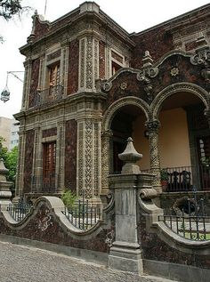 Grand house in Guadalejara, Mexico, shows a Moorish influence.  Very decorative and beautifully done.