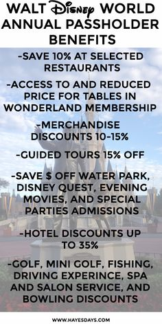 Disney Day: Walt Disney World Annual Pass Perks