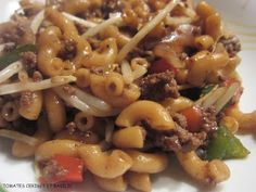 Macaroni chinois Duck Recipes, Baby Food Recipes, Indian Food Recipes, Asian Recipes, Vegetarian Recipes, Cooking Recipes, Macaroni Spaghetti, Beef Macaroni, Ground Beef Recipes For Dinner