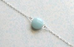 Robin   pale blue amazonite stone sterling silver by adencreations