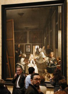 """Spain. At the Prado Museum, Madrid. Twice the """"fourth wall"""" effect intended by Velazquez in """"Las Meninas"""""""