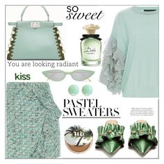 """So Sweet: Pastel Sweaters (tfs)"" by pat912 ❤ liked on Polyvore featuring River Island, Rue St., Tabula Rasa, Illesteva, Dolce&Gabbana, Urban Decay, Effy Jewelry, polyvoreeditorial and pastelsweaters"