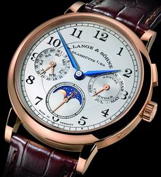 Lange Söhne 1815 Annual Calendar watch for SIHH 2017 with images, price, background, specs, our expert analysis. Moonphase Watch, Apple Watch Fashion, Most Popular Watches, Watch Blog, Luxury Watches For Men, Beautiful Watches, Automatic Watch, Cool Watches, Omega