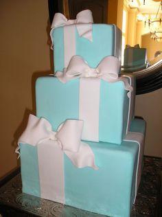 Tiffany Box Cake #weddings