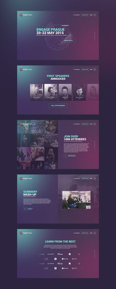 Webdesign créative purple