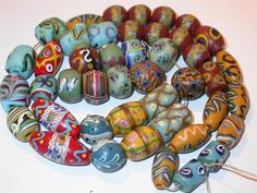 These are beautiful. Very special. Antique Trade Beads, 1850-1900 ~ Rare Venetian Fancy  Beads | eBay