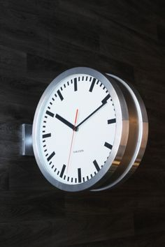double sided station clock