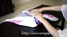 Make shoulder bag with Furoshiki cloth