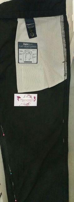 Vejam o acabamento interno de uma calça do Estilista Zegna ( Ermenegildo Zegna ).  Os ajustes nesse tipo de peça  são extremamente criteriosos pois são roupas de altíssima costura.  Depois postaremos foto do Paletó  que é  formidável.   #zegna  #ermenegildozegna #roupasdosestadosunidos #ellegancycosturas #ajustesempaleto #ajustedeterno