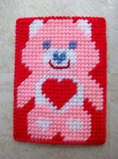 Free online Plastic Canvas Patterns for all ages.  Plastic Canvas is a craft that uses a plastic frame with holes punched in it to thread yarn...