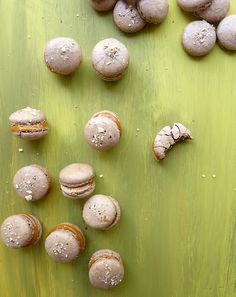 Well, macarons again, and hold on, I am right on my way to bake another bunch with fruit filling. I haven't decided yet, if it should be lem...