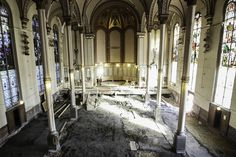 A look from the choir balcony of Old St. George Church in Corryville, where renovations are underway, December 16, 2015. When construction is done, Crossroads will use the church for their UC Campus location. The Enquirer/Madison Schmidt