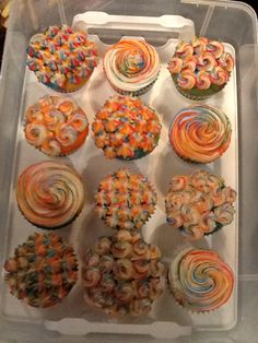 Funky cupcakes
