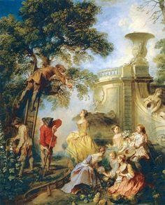 LANCRET, Nicolas - The earth - Fête galante — Wikipédia