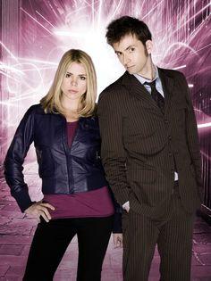 Billie Piper (Rose) & David Tennant (Tenth Doctor)