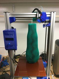400mm korkea 3D-tuloste, tulostettu Felix 3L 3D-tulostimella.