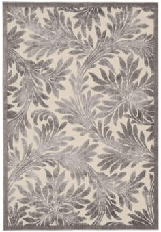 Nourison Graphic Illusions Ivory Area Rug GIL19 IV (Rectangle)