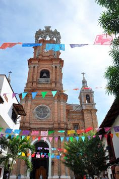 Our Lady of Guadalupe Church in Puerto Vallarta, Mexico. http://www.traveladdicts.net/2013/05/soaking-up-sun-in-puerto-vallarta.html