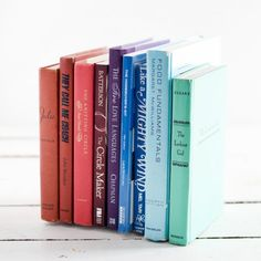 Turn discarded books into invisible bookends!