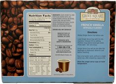 Grove Square Cappuccino French Vanilla 24 Count Single Serve Cups -- Find out more about the great product at the image link.(It is Amazon affiliate link) #MorningDrinkIdeas Morning Drinks, Cappuccinos, Instant Coffee, French Vanilla, Serving Size, Counting, Cocoa, Image Link, Cups