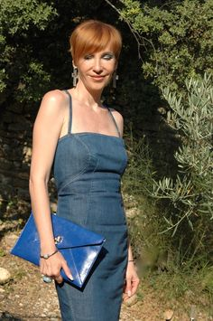 denim vintage Dress LEVI'S clutch blue