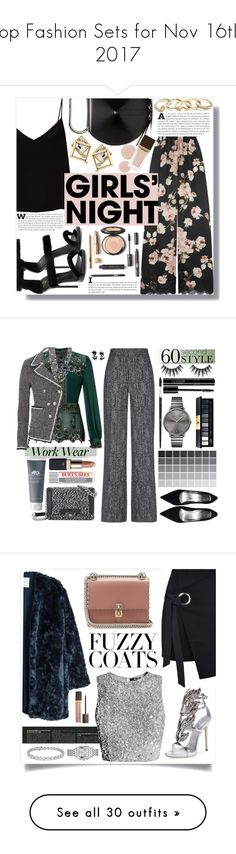 """Top Fashion Sets for Nov 16th, 2017"" by polyvore ❤ liked on Polyvore featuring Rosamosario, Giuseppe Zanotti, Raey, 3.1 Phillip Lim, GUESS, Tom Ford, Miss Selfridge, Veronica Beard, JustFab and Theory"