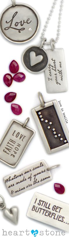 Valentine's Day or any day. Personalize your own at Heart and Stone Jewelry.