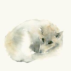 Lobo acuarela Art Print por dearcatherina en Etsy