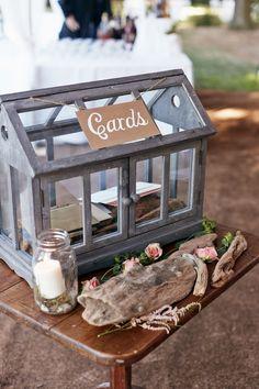 Greenhouse Wedding Card Box, unique, rustic, garden
