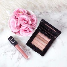 229 Likes, 16 Comments - Laura 💕🌸🎀 (@lauramillsmakeup) on Instagram: Bobbi Brown Shimmer Brick Pink Quartz, NARS Velvet Lip Glide Unlaced