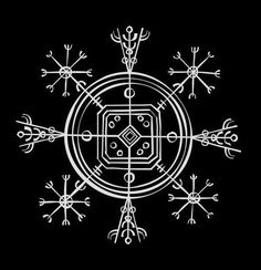 "Icelandic Magical Staves, Hulinhjalmur, (""Helm Of Disguise"") is a sigil that allows the user to become invisible."