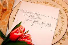 Wedding Calligraphy - Fiona Script Hand Lettering Envelope Addressing