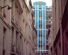 Arqueología del Futuro: 1977 Centro Pompidou [Renzo Piano + Richard Rogers] HIPERGRÁFICA