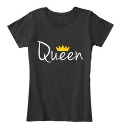 Queen black tee design. Minimalist, cool, sassy t-shirt for women. Casual wear.  US shipping. Not available in stores.